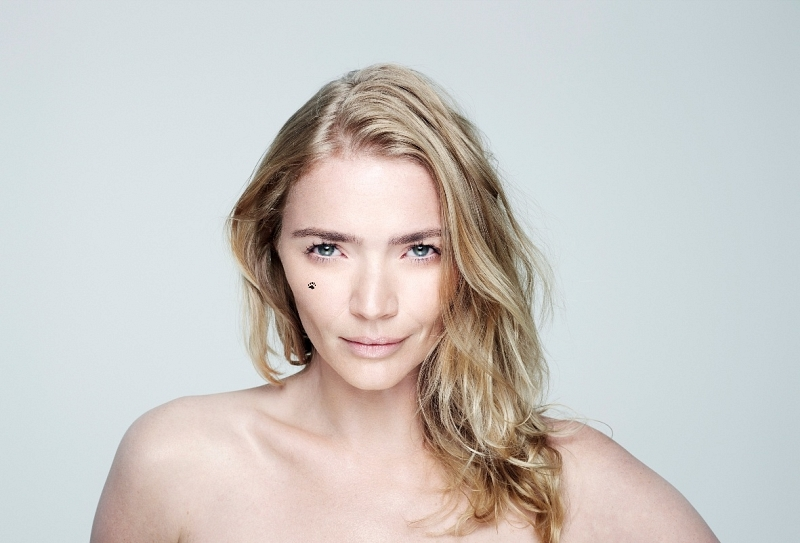 Jodie Kidd for at the BBC Children in Need BareFaced campaign